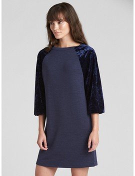 Softspun Velvet Raglan T Shirt Dress by Gap
