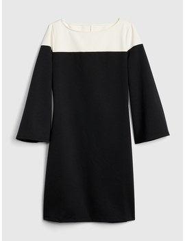 Long Sleeve Colorblock Shift Dress In Ponte by Gap