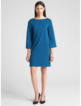 Three Quarter Sleeve Shift Dress In Ponte by Gap