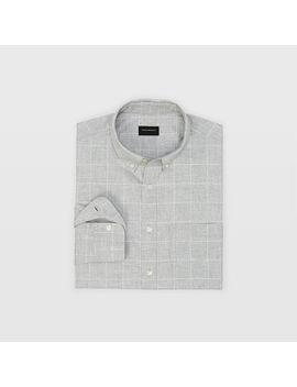 Slim Windowpane Flannel Shirt by Club Monaco