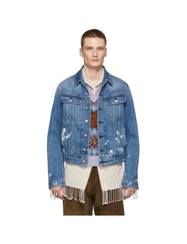 Blue Blå Konst Denim Paint Vintage Tent Jacket by Acne Studios BlÅ Konst