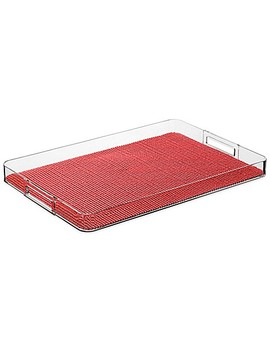 Kraftware™ Fishnet Rectangular Lucite Tray In Red by Bed Bath And Beyond