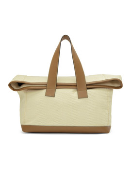 Off White & Tan Weekender Tote by Acne Studios