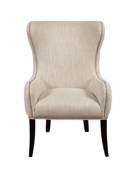 Traditional Wing Back Arm Chair In Seraphine Mink by Walmart