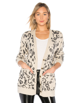 Leopard Print Destroyed Cardigan by Pam & Gela