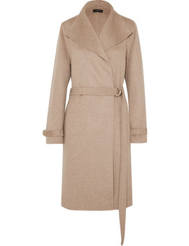 Lima Belted Wool And Cashmere Blend Coat by Joseph