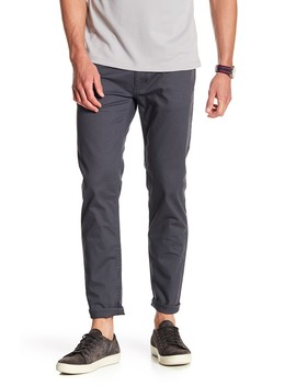 Stretch Twill Tapered Leg Pants by Dkny