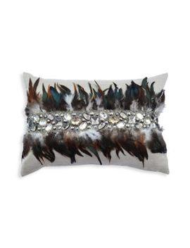 Feather Linen Pillow by Callisto Home