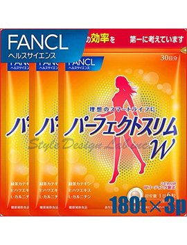 Japanese Diet Supplement Fancl Perfect Slim Alpha 30days(180tablets) × 3packs by Fancl