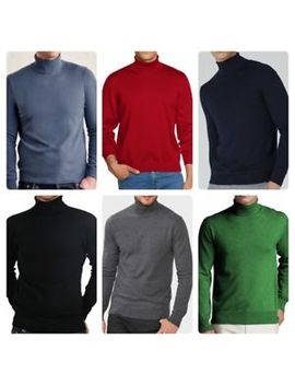 Men's New Anson's Merino Wool Blend Roll/Turtle Neck Jumper Sweater Top by Anson's
