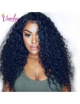 Vanlov Water Wave Lace Front Human Hair Wigs For Women Pre Plucked Natural Hairline Curly Human Hair Wig Brazilian Remy Hair Wigs by Vanlov