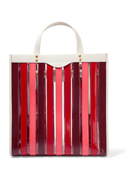 Paneled Leather And Pvc Tote by Anya Hindmarch