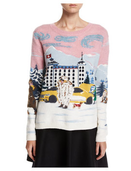 Maglione Winter Town Long Sleeve Wool Sweater by Moncler