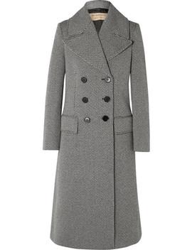 Herringbone Wool Blend Tweed Coat by Burberry
