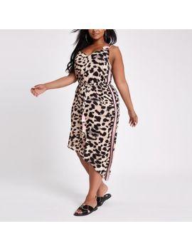 Plus Brown Leopard Print Beach Dress by River Island