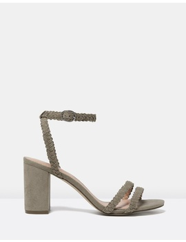 Sasha Plaited Mid Block Heels by Forever New