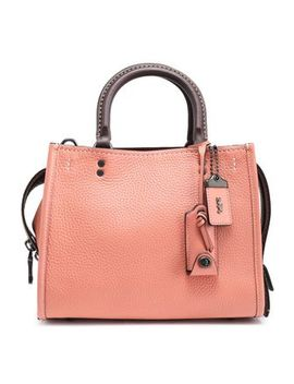 Textured Leather Tote by Coach