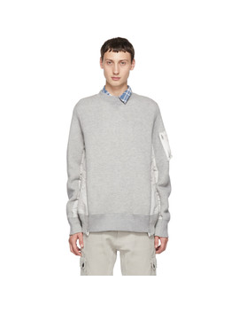 grey-sponge-sweatshirt by sacai