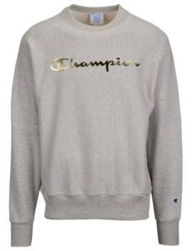 Champion Reverse Weave Graphic Fleece Crew   Men's by Champion