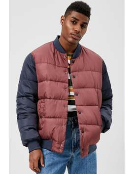 Colorblock Puffer Jacket by Forever 21