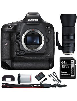 Canon Eos 1 D X Mark Ii Digital Slr Camera Body With Bundle Includes, Tamron Sp 150 600mm F/5 6.3 Di Vc Usd G2 Zoom Lens For Canon Mounts + Lexar 64 Gb 1000x Sdhc/Sdxc Class 10 Memory Card by Canon