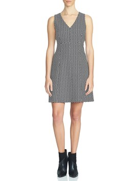 V Neck Fit & Flare Dress by 1.State
