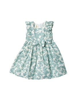 Ruffle Sleeve Floral Dress (Toddler & Little Girls) by Laura Ashley