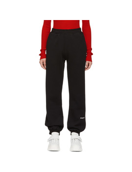 Black 'msgm!' Lounge Pants by Msgm