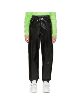 Black Vinyl Lounge Pants by Msgm