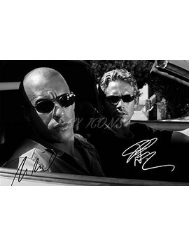 Vin Diesel And Paul Walker Signed Photo Print   Superb Quality   12 X 8 Inches (A4) by Cx Icons
