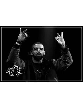 Drake Signed Photo Print 3   Superb Quality   12 X 8 Inches (A4) by Cx Icons