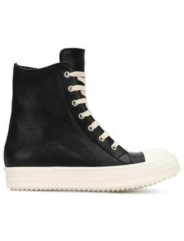 Rick Owenscontrast Hi Top Sneakershome Women Rick Owens Shoes Sneakers by Rick Owens