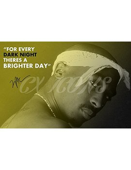 2 Pac (Tupac Shakur) Quote Art Photo Print Poster   12 X 8 Inches (A4)   Top Quality by Cx Icons