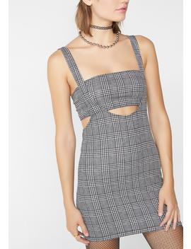 Charles Check Petra Bodycon Dress by Motel
