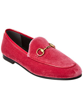 Gucci Jordaan Velvet Loafer by Gucci