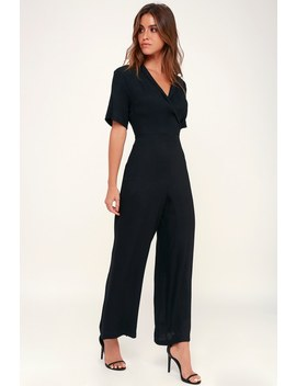 Aryelle Black Wide Leg Jumpsuit by Lush