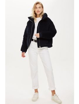Chunky Corduroy Puffer Jacket by Topshop