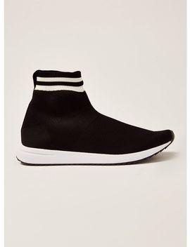 Black Knit Viper Sock Boots by Topman