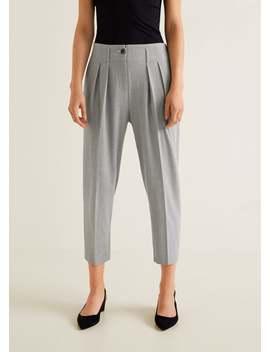 Pantaloni Righe Texture by Mango