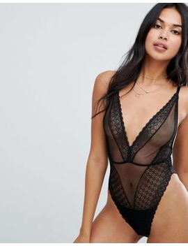 Asos Design Merci Lace Bodysuit by Asos Design