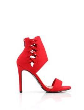 Scarlette Lace Up Heel   Red by Fashion Nova