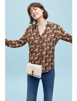 Brielle Tiger Print Shirt by Anthropologie