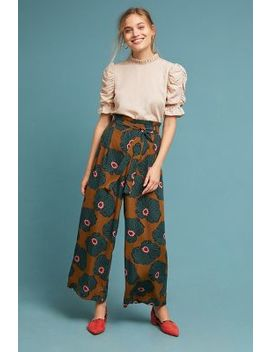 Windham Wide Leg Trousers by Anthropologie