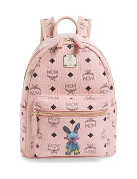 Rabbit Mini Coated Canvas Backpack by Mcm