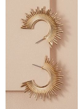 Gold Sunburst Hoops by Anthropologie