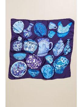 Karen Mabon Printed Silk Twill Scarf by Karen Mabon