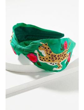 River Embroidered Embellished Headband by Anthropologie