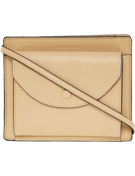 Beige Grained Leather Pouch by Coccinelle