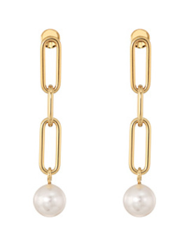 Pearl Link Linear Earrings by Michael Kors