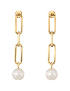 Pearl Link Linear Earrings by Michael Kors